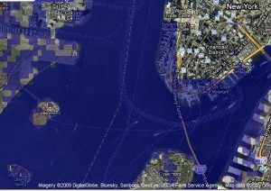 2 meter sea rise in New York (Click to see full size)