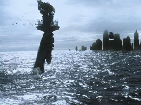 Submerged New York: scene from A.I. (2001)