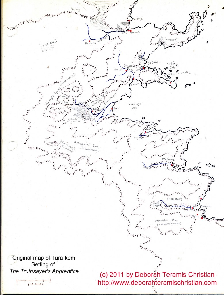 Tura-kem hand-drawn original map