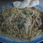 Spaghetti with Onions, Garlic, and Anchovies