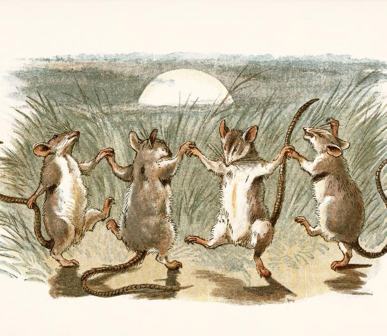 Biter frontispiece dancing fieldmice1 Meeple (Mouse People)
