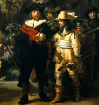 Detail from The Night Watch by Rembrandt, 1642