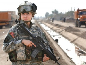 PFC Janelle Zalkovsky Irag 2011 300x229 Women who write military science fiction books