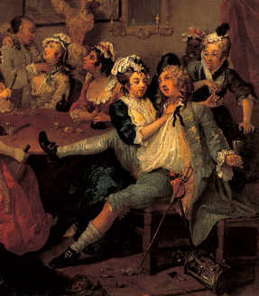 Rake at the Rose Tavern detail 1734 Hogarth1 How to Use Socioeconomic Class in RPGs, Part 1