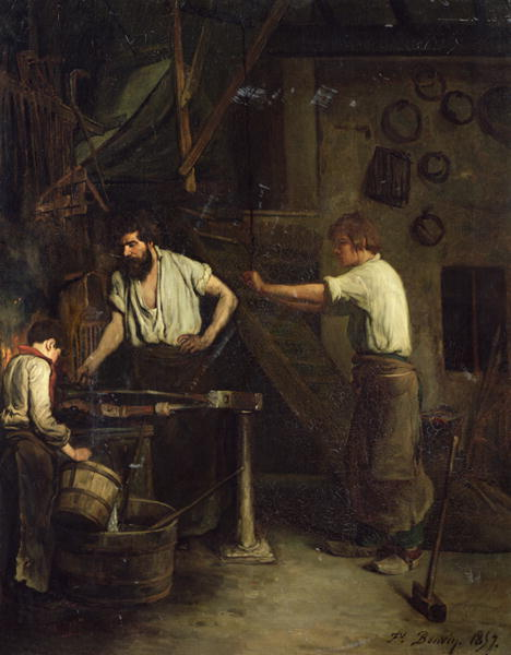 The Blacksmiths Memory of Treport - Francois Bonvin 1857