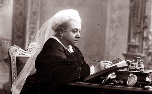 Queen Victoria at her writing desk 1891