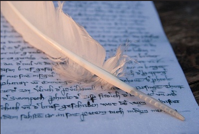 quill on document