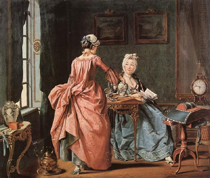 The chamber maid brings tea - Pehr Hillestrom 1775